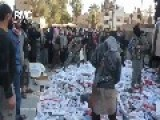 Islamic State Of Raqqah | ISIS Burn Large Quantity Of Smoke And Alcohol