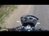 Motorcycle Nearly Collided With A Car In Russia