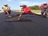 Guy Cleans Road In Unusual Way