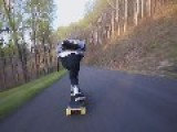 Longboarder Takes Gnarly Spill On Road