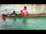 Girl Shows World How To Save A Capsized Boat With Your Legs
