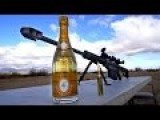 How To Uncork Cristal With A 50 Cal Slow Motion
