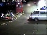 CCTV Footage Of Car Smashing Into Gas Station In Harare