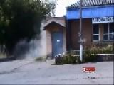 Pro Russian Seperatist Nearly Killed By Machine Gun Fire From Ukrainian Army Tank