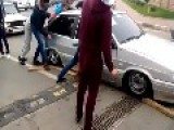 Lowrider Fail: Car Gets Stuck On Speed Bump