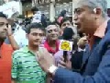 Rajdeep Sardesai- Indian Journalist At Madison Square Garden Abusing Public