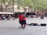Street Performer's Amazing Control Over A Soccer Ball