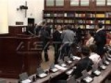 Albanian MPs Fight In The Macedonian FYR Parliament