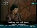 Gaddafi Speech:'America Hanged Saddam And We Might Be Next! With English