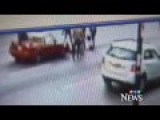Caught On Cam: Hard Impact Hit And Yet Victim Walks Away
