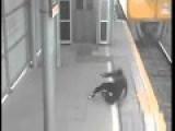 Teen Daredevil Narrowly Misses Train