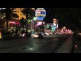Raw Footage Of A Big Car Chase Crash Being Filmed For The New Bourne Movie On The Las Vegas Strip