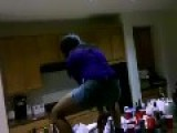 Dancing Girl Falls Off Counter