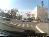 Stupid Driver Hits Police Car