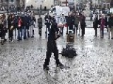 Street Performer Goes Through A Tennis Racket
