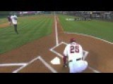 Don Baylor Cermonial Leg Pop