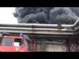 Rosneft Oil Refinery On Fire, Lysychans'k