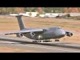 Massive C-5 Cargo Plane Performs Touch-And-Go Maneuver