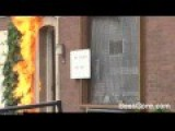 Crazy Dutchman Chases Police Out Of His House With Molotov Cocktails