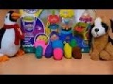 8 Play-Doh Surprise Eggs The Smurfs, Ben 10, Animals, Toys, Disney Princess