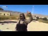 Kurdish Peshmerga Soldier Saluting And Praising Abu Azrael, In North Iraq