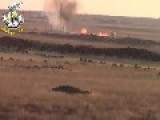 Assadist Gunmen Scarper When Their T-55 Is Blown To Pieces By A Citizen Tank Hunter: Dara'a Governorate Oct 5th, '14