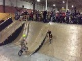 Kid Successfully Performs Flip On Bike Then Fails