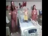Nurses Bust Out A Dance Routine With Little Cancer Patient
