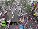 Netherlands: Drone Pics Of Amsterdam's Gay Pride Boat Party