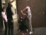 Drunken Moron Pours Wine From Carton Over Asian Guys Head On A Sydney Street:wish I Tored This Clown's Arm Off, I