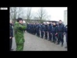 Russian Lieutenant Colonel Meets Ukrainian Police Officers