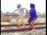 Trying To Save A Suicidal Friend From Train At Last Second!