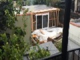 Loose Wire Explodes During LA Storm