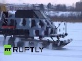 Russia: Check Out This 'UNSINKABLE' Snowmobile That Can Ride On Ice Floes