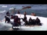 Migrant Boat Crashes On Greece Shore RAW VIDEO