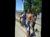 Street Fight Ends With A Broken Leg