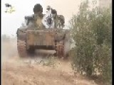 Mujahideen Tank In Action