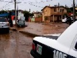 Car Dragged Away By Flash Flood Waters