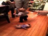Georgia Tap Dances With Her Daddy