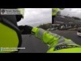 POV Motorcops Emergency Transport VIP Car Through Traffic