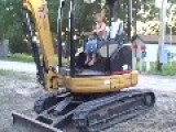 6 Year Old Boy Operates Excavator