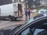 An Angry Customer Attacks A Delivery Driver