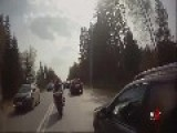 Biker Crashes Hard
