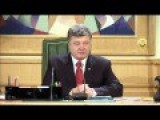 After Signing Into Law Those Regions Self Rule Poroshenko ...condemns The Elections