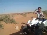 Arab Kid On His Quad