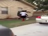 Anger In The Hood: Young Guy Gets To Feel The Power Of A Baseball Bat