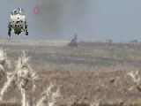 A Syrian Sunni Arab Tank Hunter Gets A Hit On Assad Regime ZSU-23-4, With 9M133 ATGM: Quneitra Governorate