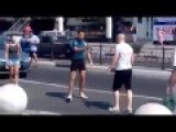 ACCIDENT And FIGHT, Car Mirror Vs. Bald Head - Cyclist Road Rage Due To Dumb Lady