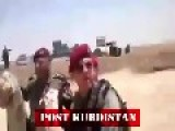 Abandoned Humvees And Iraqi Army Uniformes By Peshmergas