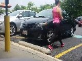 Athletic Woman In Workout Clothes Takes Handicapped Spot